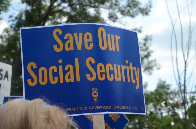save our social security sign afge