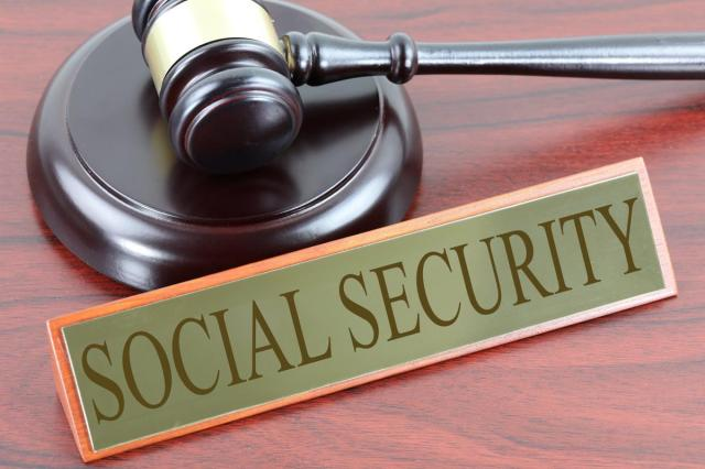 social security with gavel
